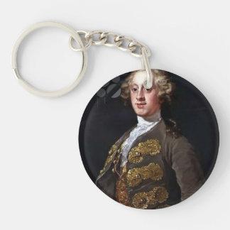 William Hogarth- William Cavendish Single-Sided Round Acrylic Keychain