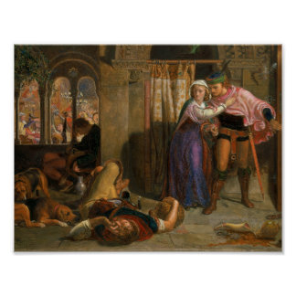 William Holman Hunt - The flight of Madeline and P Poster