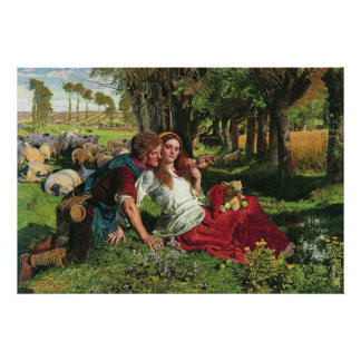 William Holman Hunt The Hireling Shepherd Posters