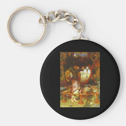 William Holman Hunt The Lady of Shalott Basic Round Button Key Ring