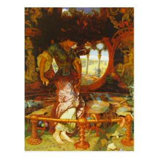 William Holman Hunt The Lady of Shalott Postcard