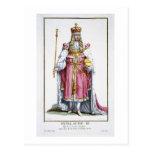 William III (1650-1702) of Orange, 1780 (coloured Postcard