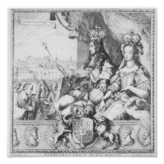 William III  and Mary II Poster