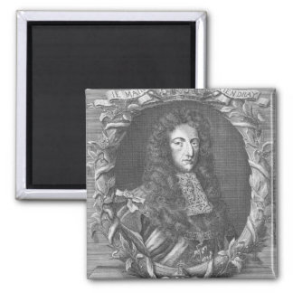 William III  Stadholder and King of England Square Magnet