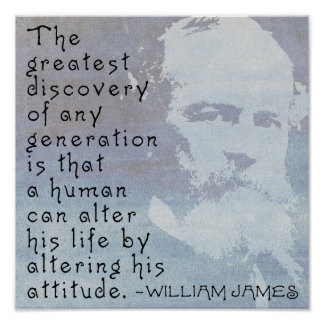 William James 'Attitude' motivational poster