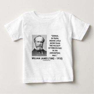 William James Genius Perceiving An Unhabitual Way T Shirts