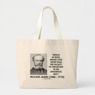 William James Genius Perceiving An Unhabitual Way Jumbo Tote Bag