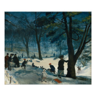 William James Glackens Central Park Winter Poster