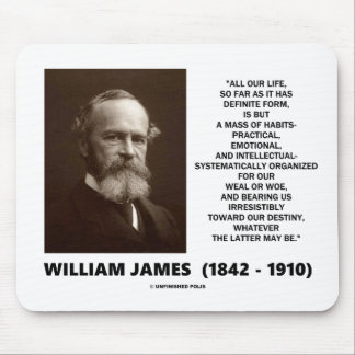 William James Mass Of Habits Destiny Quote Mouse Pad