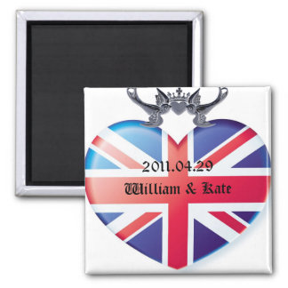 William & Kate 2011.04.29 Save The Date Square Magnet