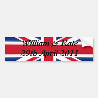 William & Kate - 29th April 2011 Bumper Sticker