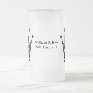 William & Kate - 29th April 2011 Frosted Glass Beer Mug