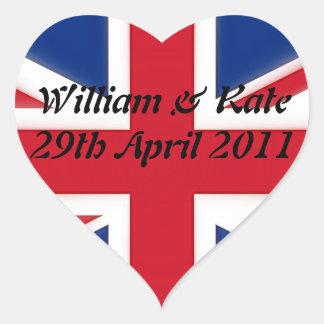 William Kate - 29th April 2011 Heart Sticker