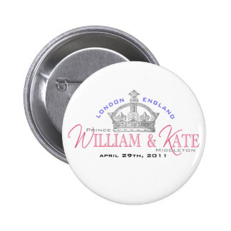 William & Kate Royal Wedding 6 Cm Round Badge