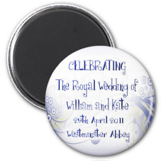 William & Kate Royal Wedding Collectibles Souvenir 6 Cm Round Magnet