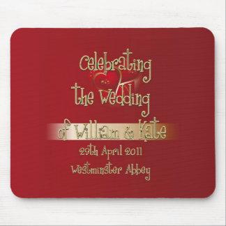William Kate Royal Wedding Collectibles Souvenir Mouse Pad