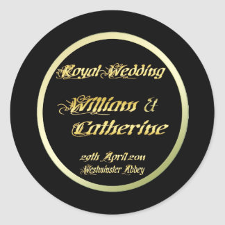 William & Kate Royal Wedding Collectibles Souvenir Round Sticker