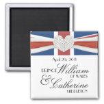 William & Kate - Royal Wedding Commemorative Gift Square Magnet