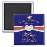 William & Kate - Royal Wedding Commemorative Gift Refrigerator Magnets