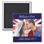 William & Kate Royal Wedding Kiss Magnet