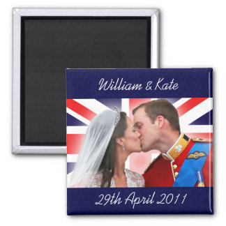 William & Kate Royal Wedding Kiss Magnet