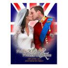 William & Kate Royal Wedding Kiss Postcard