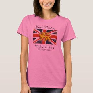 William & Kate Royal Wedding T-Shirt (Pink)
