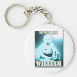 WILLIAM BASIC ROUND BUTTON KEY RING
