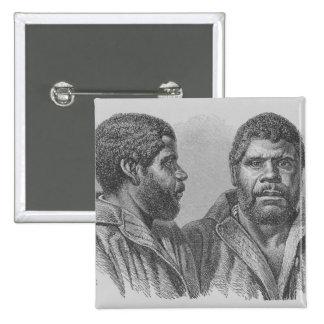 William Lanney, the last Tasmanian 15 Cm Square Badge