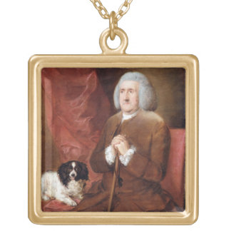 William Lowndes (1652-1724), Auditor of His Majest Gold Plated Necklace