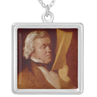 William Makepeace Thackeray, c.1864 Silver Plated Necklace