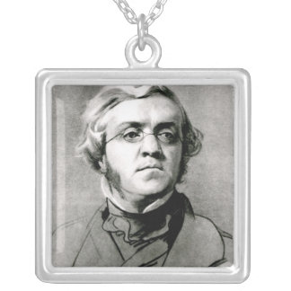 William Makepeace Thackeray Silver Plated Necklace