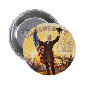 William McKinley Campaign Poster Gold Standard 6 Cm Round Badge