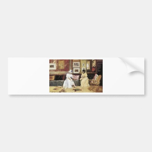 William Merritt Chase A Freindly Call Bumper Stickers