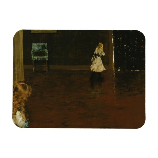 William Merritt Chase - Hide and Seek Rectangular Photo Magnet