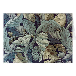 William Morris Acanthus Floral Wallpaper Design Greeting Card