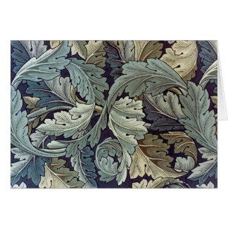 William Morris Acanthus Floral Wallpaper Design Greeting Card
