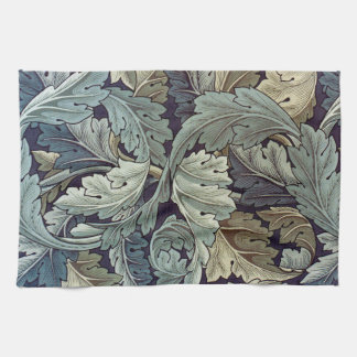 William Morris Acanthus Floral Wallpaper Design Hand Towels
