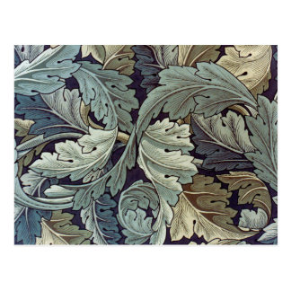William Morris Acanthus Floral Wallpaper Design Postcard
