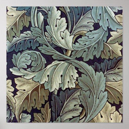 William Morris Acanthus Floral Wallpaper Design Poster