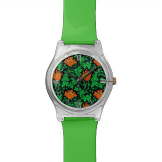 William Morris Anemone, Orange, Green and Black Watch