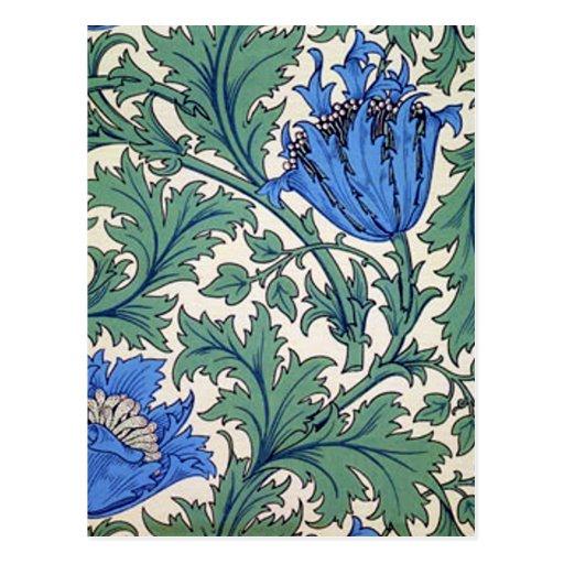 """William Morris """"Anemone"""" Postcards"""