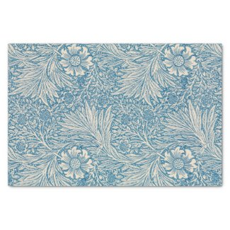 William Morris - Art Nouveau Blue Marigold Tissue Paper