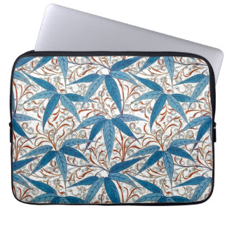 William Morris Bamboo Print, Denim Blue & White Laptop Sleeve