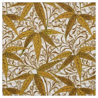William Morris Bamboo Print, Gold and Cream Fabric