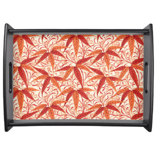 William Morris Bamboo Print, Mandarin Orange Serving Tray