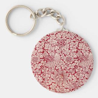 William Morris Bird and Anemone Keychain