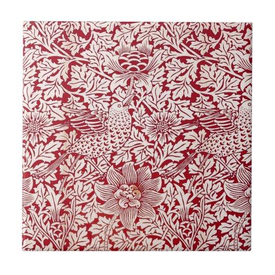 William Morris Bird and Anemone Small Square Tile