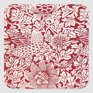 William Morris Bird and Anemone Square Sticker