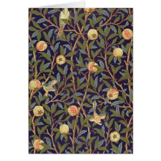 William Morris Bird And Pomegranate Card